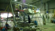 Finitions avant la sortie du hangar