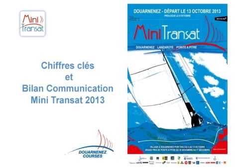 Bilan communication Mini Transat 2013