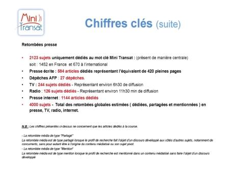 Bilan communication Mini Transat 2013 - Chiffres clés 3/3